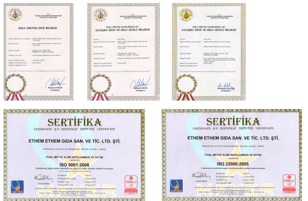Cold Storage Depot quality certificates
